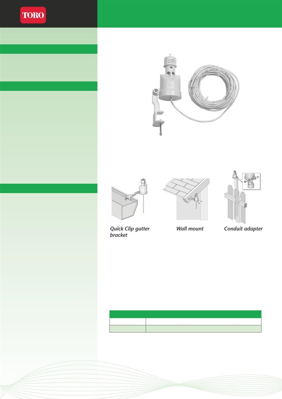 Irrigation Toro Sensors Monitors Wired Rainsensor Page 1 Workman Wiring Diagram