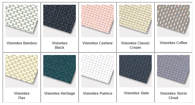 Visiontex color samples