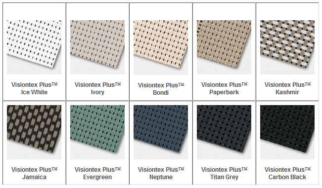 Visiontex Plus color samples